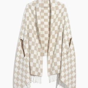 Madewell Checkerboard Cape Scarf, OS, NWOT